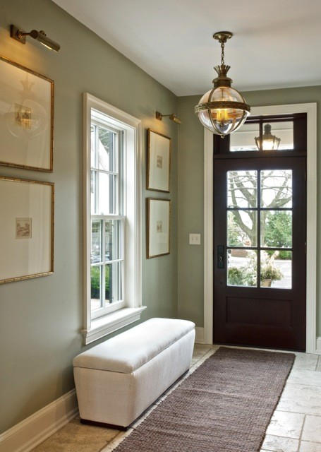 Foyer Ideas Paint Color : Beautiful entryway love the color scheme what is