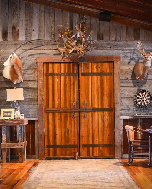 Camphouse Remodel rustic-entry