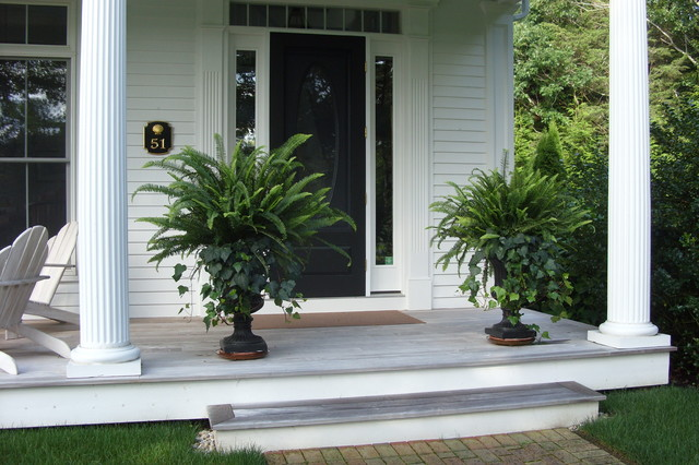 Cape cod renovation traditional entry boston by Plants next to front door