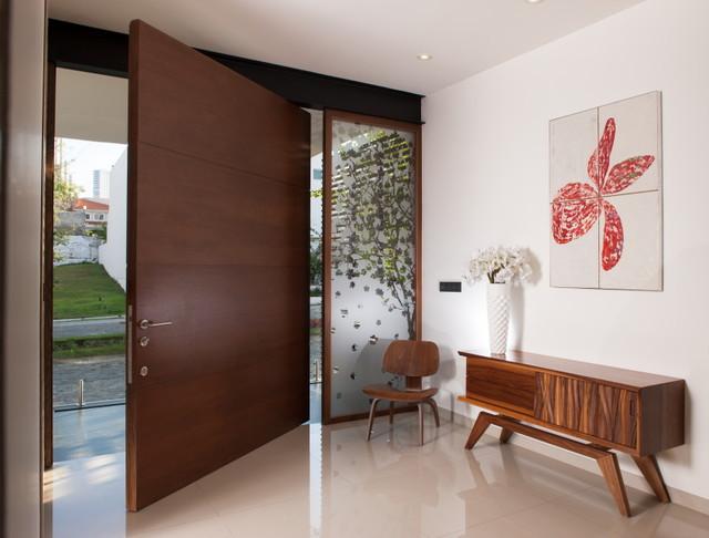 Casa Guadalajara contemporary-entry
