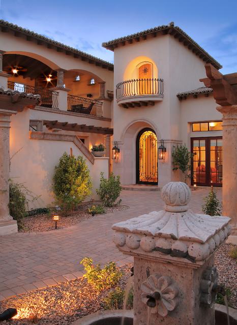 Casa turquoise for Piani casa adobe hacienda