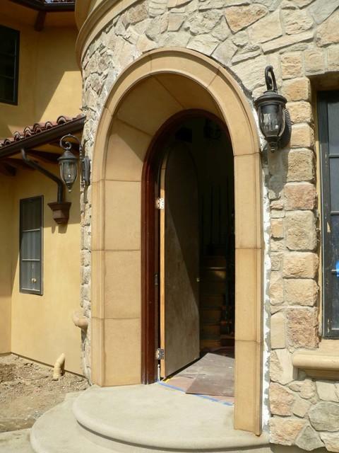 Cast Stone Precast Entry Arch Mediterranean Entry