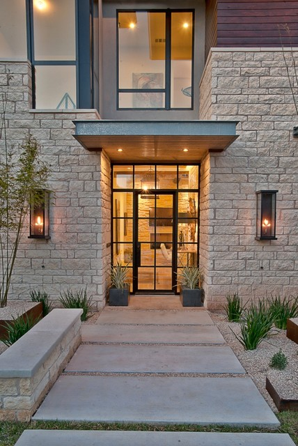 Cat Mountain, Greenbelt Homes, Austin TX contemporary-entry