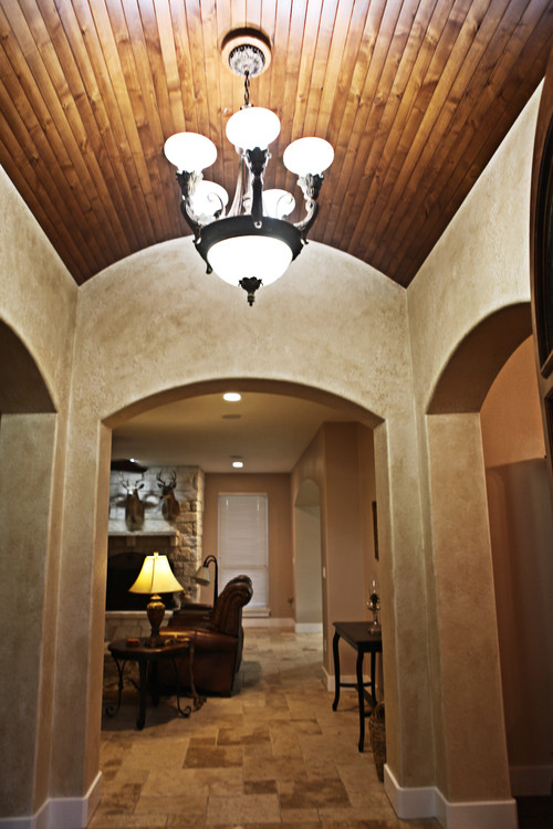 What type of wood did you use on the barrel ceiling for Barrel ceiling ideas