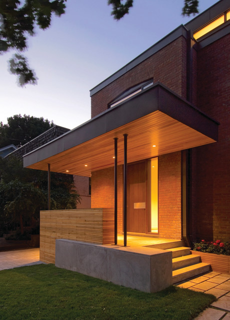 Exterior House Designs Exterior Modern With Concrete Patio Flat Roof: By Taylor Smyth Architects