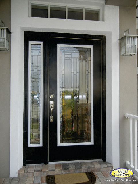 Change The Existing Glass In The Door Traditional Entrance
