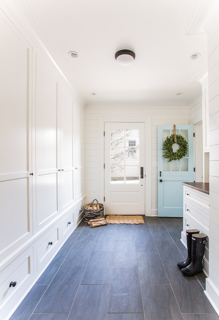 Chevy Chase Mudroom With Dutch Door