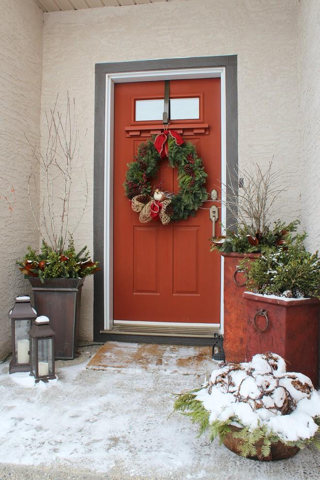 Elegant entryway photo in Calgary