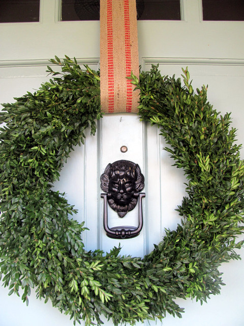 Christmas front door eclectic entry