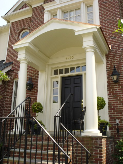 Classic Colonial Portico Traditional Entry DC Metro By - Colonial portico front entrance