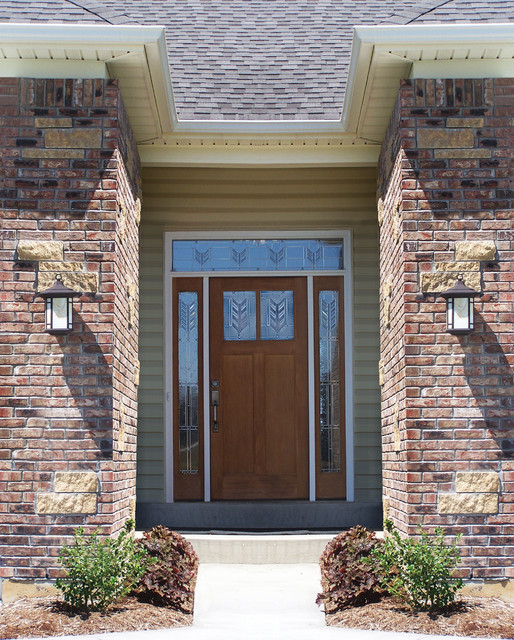 Classic craft american style door sidelites and transom for Peachtree fiberglass entry doors