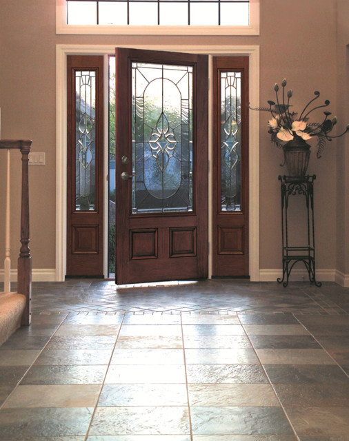 Classic Craft Mahogany Door And Sidelites Traditional