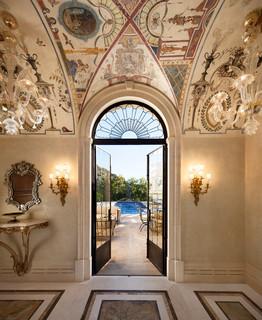 Classic palladian villa in montecito mediterranean for Ancient roman interior decoration
