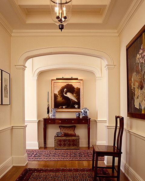 Portland Condo Interior Design traditional-hall