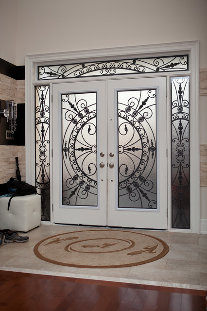 Classic Style Wrought Iron Door Inserts Entry Toronto By Lusso