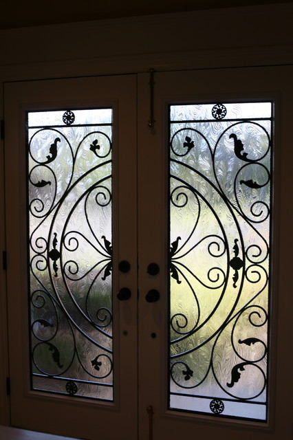 Lovely Classic Style Wrought Iron Door Inserts Entry