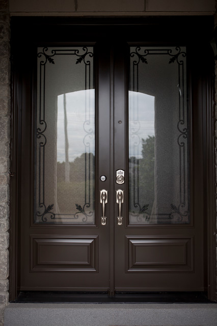 Classic Style Wrought Iron Door Inserts Entry Other Metro By Lusso Design Entry Doors