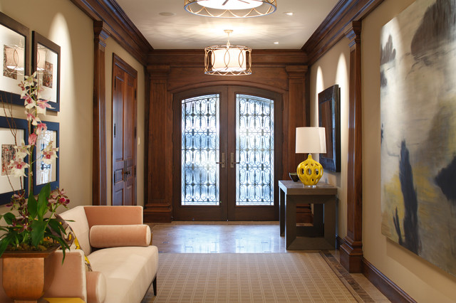 Townhouse Foyer : Classical twist a modern townhouse with traditional