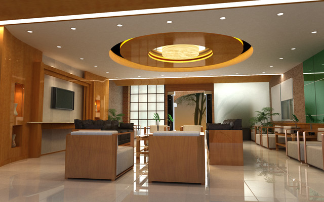 Clean & Detailed Office Reception contemporary-entry