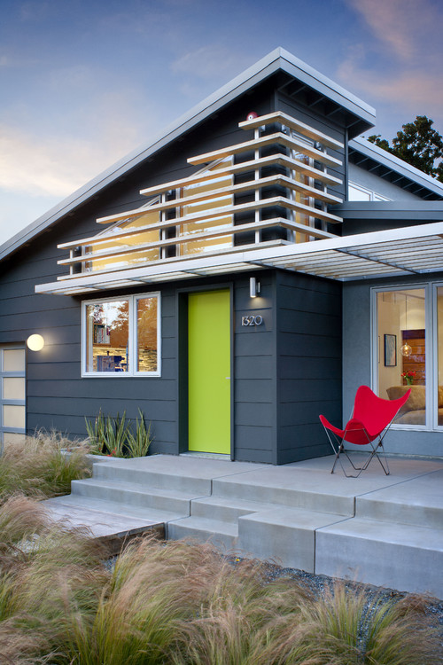 modern exterior Color of the Month: Decorating with Bright Green