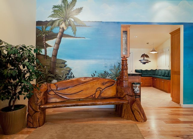 Coastal Theme by Karen Grace Interiors tropical-entry