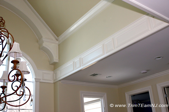 Coffered ceilings and beams traditional entry by for Coffered cathedral ceiling