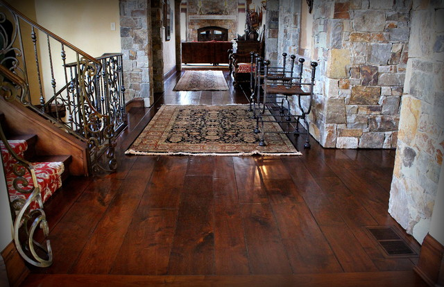 Cohen - Hand-Scraped Walnut traditional-entry