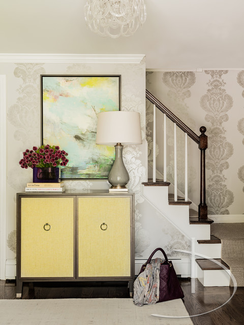 Color Pop   Transitional   Entrance   Boston   By Daher Interior Design