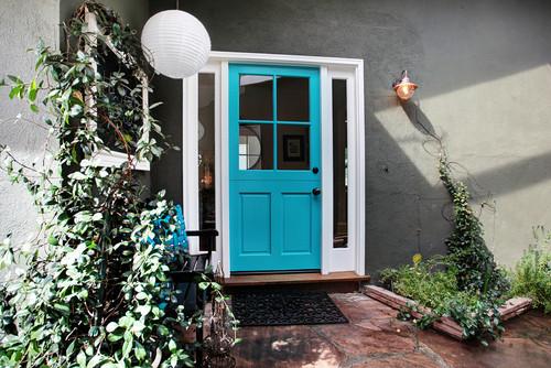puerta principal color aqua