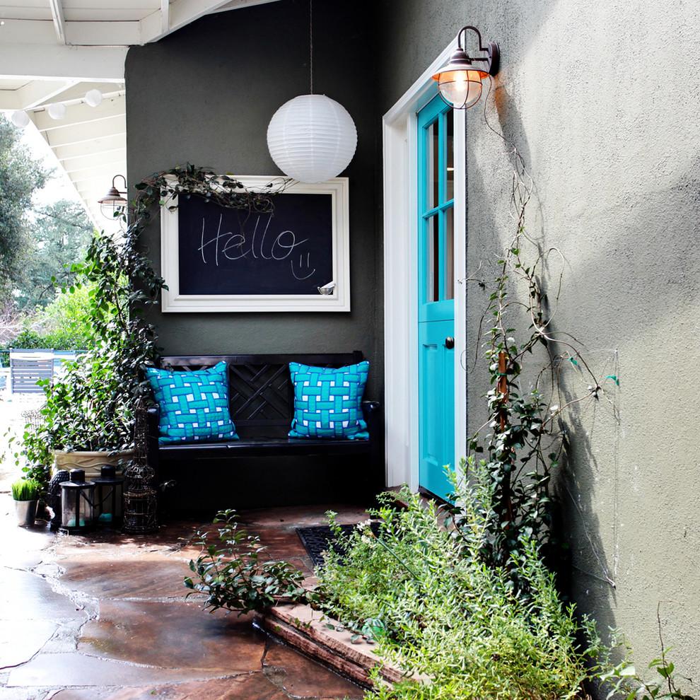 Entryway - eclectic entryway idea in Los Angeles
