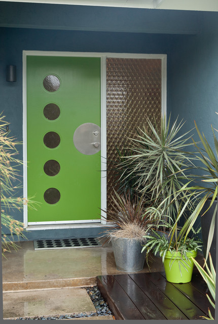 Colorful Mid Century Modern Residence Midcentury Entry