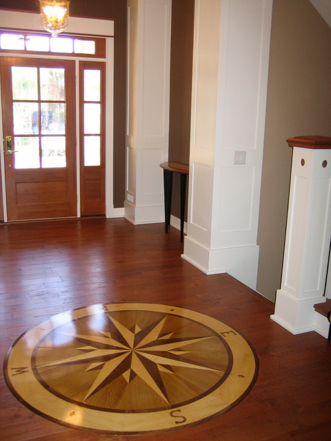Compass rose hardwood floor medallion 72 namaka style for Wood floor medallion designs