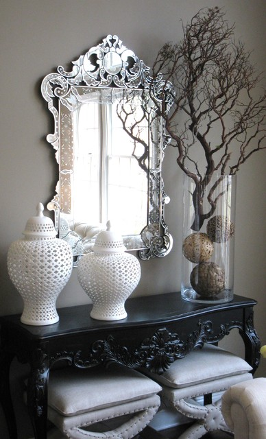 Console Table Detail Eclectic Entry New York By