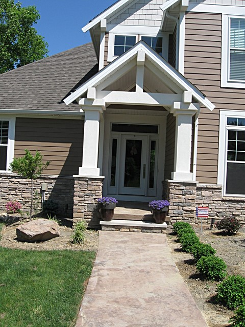 Contemporary craftsman style home craftsman entry for New construction craftsman style homes