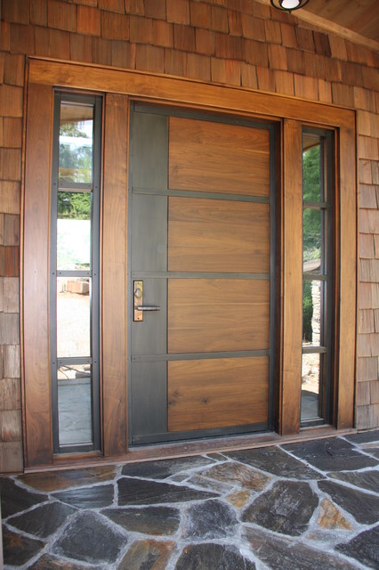 Contemporary Doors Hills Style Modern Entry Other