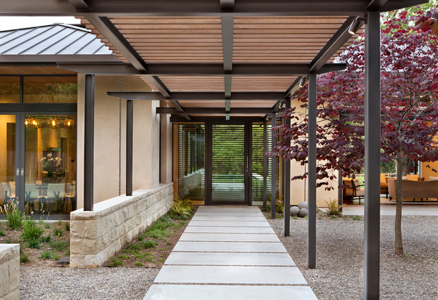 Meadow Creek Residence Contemporary Entry San