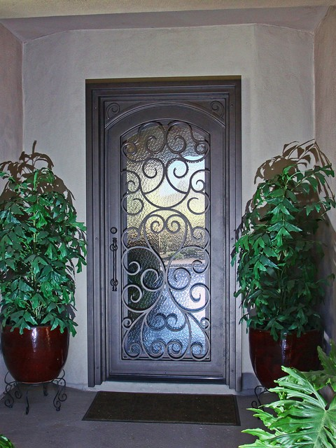 Custom Scroll Iron Entry Door By First Impression Security Doors Contempora