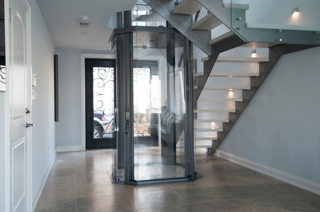 Octagonal Glass Elevator By Nationwide Lifts Contemporary Entry Boston By Nationwide
