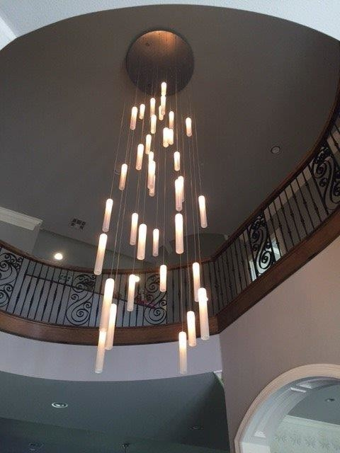 Contemporary Foyer Lighting Modern Entry Chandelier For High Ceiling Foyer Traditional Entry Dallas By Galilee Lighting