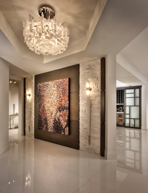 Contemporary Private Residence Palm Beach County - Contemporary - Entry - Miami - by Interiors by Steven G