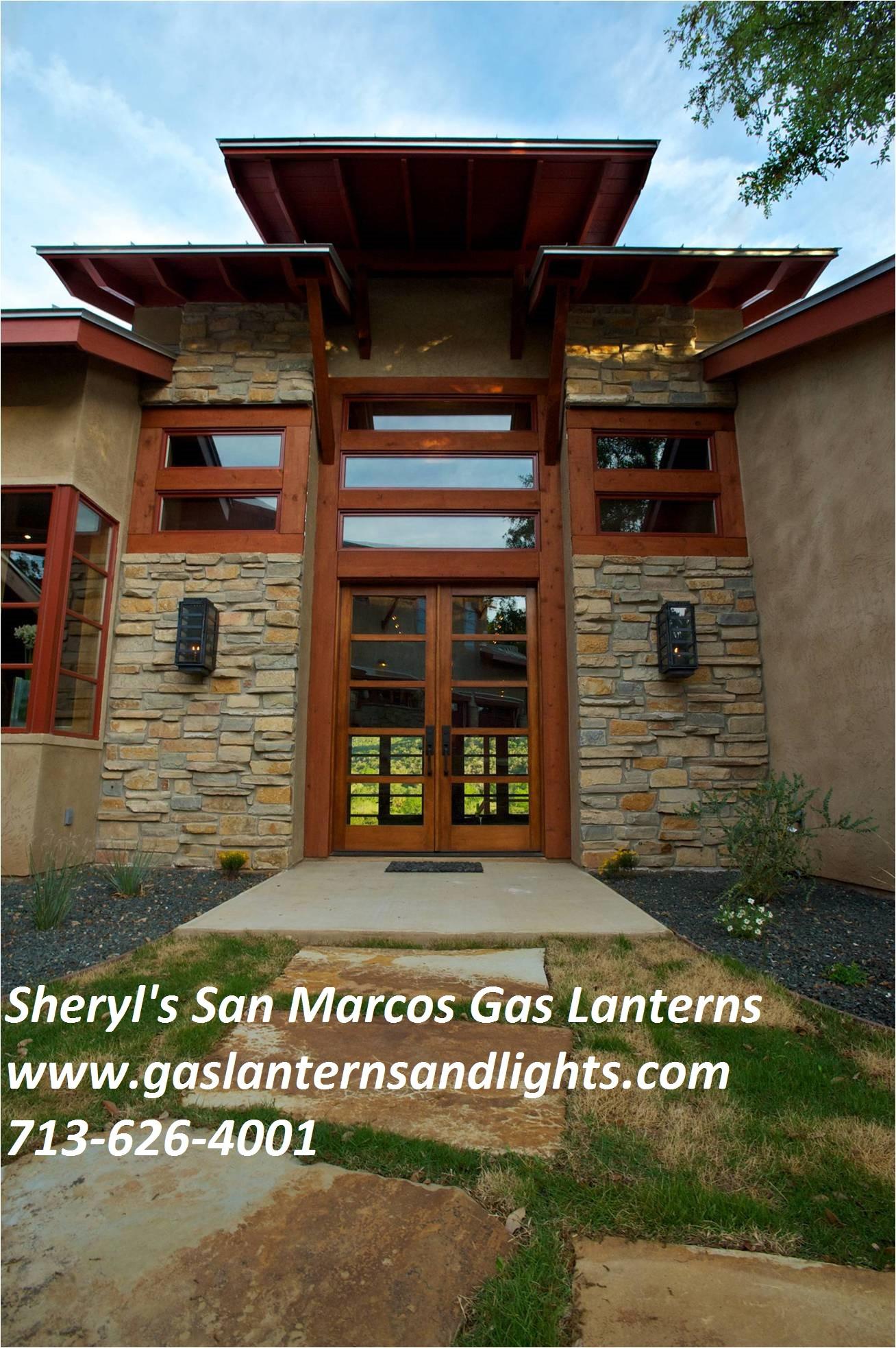 Contemporary San Marcos Gas Lanterns by Sheryl Stringer