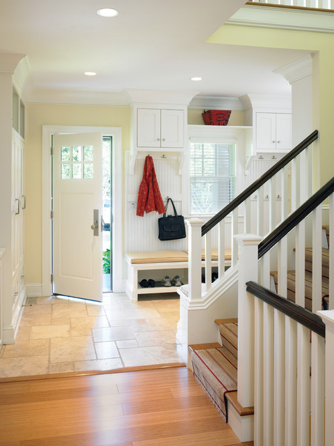 Contemporary shingle style mudroom victorian entry for Modern shingle style