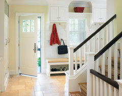 Contemporary Shingle Style Mudroom traditional-entry