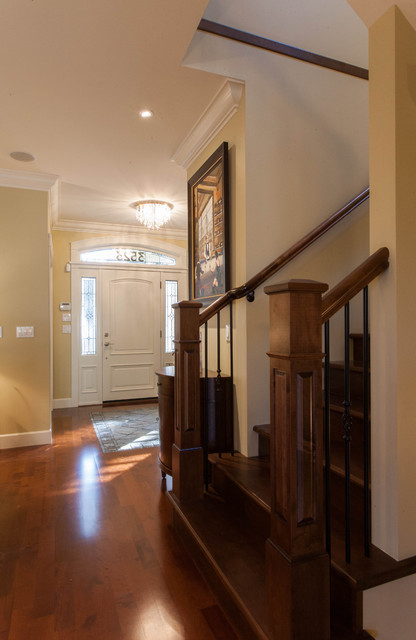 Contemporary Vintage - Custom Home traditional-entry