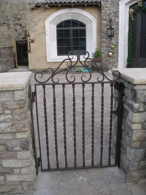 Courtyard Gate Traditional Entry Phoenix By