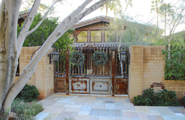 Courtyard Gates Rustic Entry Phoenix By Grizzly