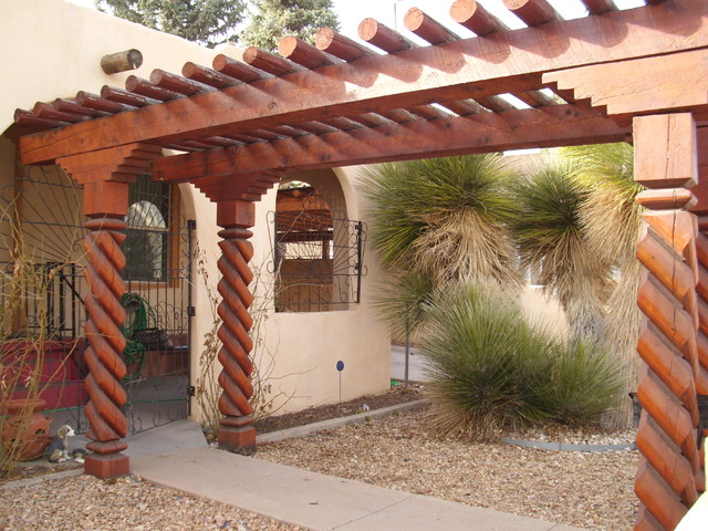 Covered New Mexican Style Entryway Southwestern Entry