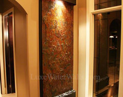 Indoor Water Wall For Client's Entry Way craftsman-entry