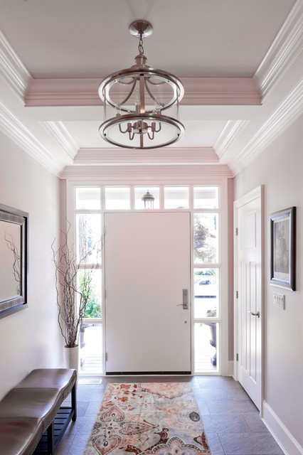 Foyer Ideas Craftsman : Craftsman style custom home modern entry vancouver