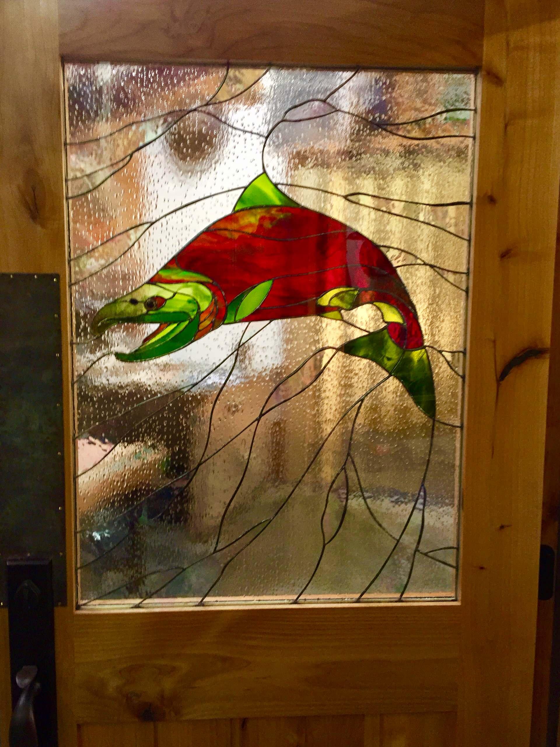 CRYSTAL CREEK LODGE, KING SALMON, ALASKA BY JAMES L. ZIEGLER, ARTISTIC GLASS AND